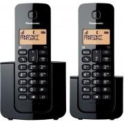Teléfono Inalámbricos Panasonic KX-TGB112MEB Dos Auriculares Identificador De Llamadas-Negro