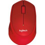Logitech M330 SILENT PLUS - Muis - 3 knoppen - draadloos - 2.4 GHz - USB draadloze ontvanger - rood