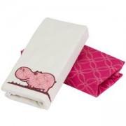 Комплект чаршафи Joy line, toTs, розово хипопотамче - сатен, 011222