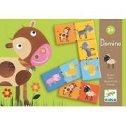DJECO Gra domino zwierzęta na farmie - FARMA, 3 lata +, DJ08158