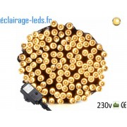 Guirlande LED 20M Blanc chaud 200 led étanche IP44 230v. ref gl-13