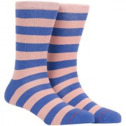Soxytoes Stripe 2 Blue Cotton Calf Length Pack of 1 Pair Striped for Men Casual Socks (STS0006C)