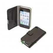 iPhone 4/4S Plånbok Leather (Svart)