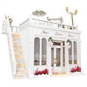 Creationtop DIY kit Wooden Handmade Dollhouse Miniature Angel Dream House