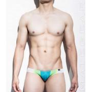 Mategear Ran Kwang Flat Front Reduced Sides Mini Square Cut Trunk Swimwear Deep Sky Blue 1150102
