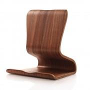 SAMDI Dual-use Wood Stand Holder for iPhone iPad Samsung HTC LG - Brown