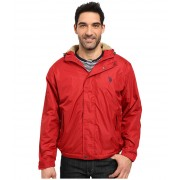 US Polo Assn Hooded Windbreaker Chili Pepper