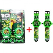 VEEJEE Ben-10 Walkie Talkie and Set of 2 Projector Watches Combo Offer for Kids.