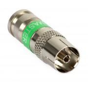 kompresszíós IEC koax hüvely / csatlakozó RG-6