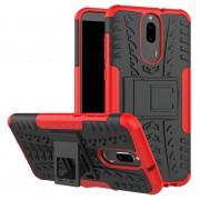 Capa Híbrida Antiderrapante para Huawei Mate 10 Lite - Vermelho / Preto