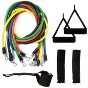 Konex Resistance Toning Tube/Resistance Band with Foam Handles Door Anchor for Gym Workouts