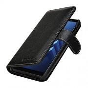 stilgut talis bescherming-Hoes voor Samsung Galaxy A8 (2018) met creditcards-vakken van Echt leer. zijkant Opklapbare Flip Case in handwerk gemaakt voor het Samsung Galaxy A8 (2018), zwart
