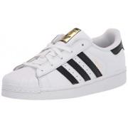 Adidas ORIGINALS Adidas Superstar Zapatillas para niños, Blanco/Negro, 22.5 MX M Niño Grande