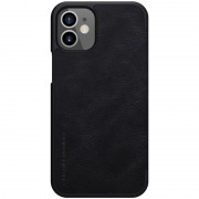 NILLKIN Qin Series Leather Unique Shell with Card Slot Phone Case for iPhone 12 5.4 inch - Black