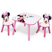 Set Masuta Si 2 Scaunele Disney Minnie Mouse Pink Fruits
