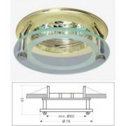Led beépíthető spot lámpatest, üveg/arany design, fix, MR16 foglalattal Life Light led