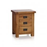 Oak Furnitureland Rustic Solid Oak Bedside Tables - Bedside Table - Original Rustic Range - Oak Furnitureland