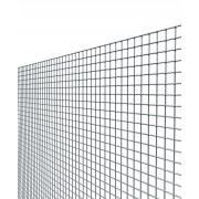 NextradeItalia Rete Per Recinzione Elettrosaldata Zincata A Maglia Quadra Mm 12x25 Altezza 100 Cm 25 Mt