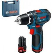 Bosch Professional GSR 10.8-2-LI Akkus fúrócsavarozó 2 akkuval 2 Ah 30Nm