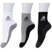 Adidas Unisex Cotton Ankle Length Socks - 3 Pairs