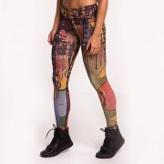 GraffitiBeasts Ski - Dames Sportlegging in de Classic uitvoering met graffiti design - Multicolor - Size: Medium