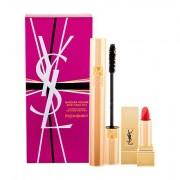 Yves Saint Laurent Volume Effet Faux Cils tonalità 01 Black confezione regalo mascara 7,5 ml + rossetto Rouge Pur Couture 1,3 ml 1 Le Rouge donna