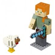 LEGO Minecraft™ Alex BigFig cu găină