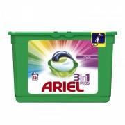 Detergent de rufe Ariel gel capsule Pods Color, 15 capsule x 28 ml