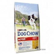 Purina Dog Chow Adult Active con pollo - 2 x 14 kg - Pack Ahorro