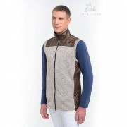 Cavalliera Riding Vest with Waterproof Inserts Majesty Men - Truffle brown/ Melange Grey - Size: Extra Large