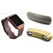 Zemini DZ09 Smart Watch and Gibox G6 Bluetooth Speaker for SONY xperia e1 dual(DZ09 Smart Watch With 4G Sim Card Memory Card| Gibox G6 Bluetooth Speaker)