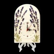 V.K.05-01-16 Levendulás óra,kerámia,kézzel festett
