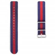 Dane Dapper Nato Uhrenarmband In Marineblau Rot & Silberfarben