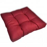 Възглавница за стол 60 х 60 х 10 см, винено червена тапицерия