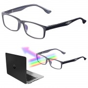 infactory Augenschonende Bildschirm-Brille mit Blaulicht-Filter, +3,5 Dioptrien