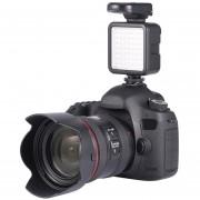 5.5W 800lm 6000K Mini Portable Long Life 49 LED Video Light Lamp Photographic Photo Lighting For Camera Photography-Black