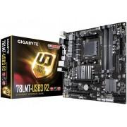 Gigabyte GA-78LMT-USB3 R2 Moederbord Socket AMD AM3+ Vormfactor Micro-ATX Moederbord chipset AMD® 760G / SB710