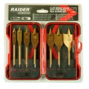 """Свредла за дърво плоски 1/4"""" hex 7бр. ?10, 12, 16, 19, 22, 25 и 32mm Raider 157794"""