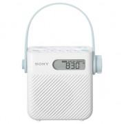 Radio cu ceas Sony ICFS80, Waterproof, Alb