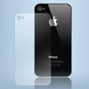 Somikon Glasklare Schutzfolie für die Rückseite von iPhone 4/4s