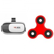 VR BOX Virtual Reality Glasses Headset 3D For Smart Phones Free One Fidget Spinner Toy Stress Reducer with 608 Bearing
