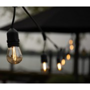 Kerstverlichting - Prikkabel 8M - Incl. 12 warm witte Led lampen