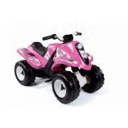 Smoby vehicul electric cu patru roţi pentru copii Quad Ralley Fille 33054 roz