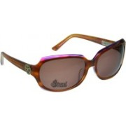 Animal Rectangular Sunglasses(Brown)