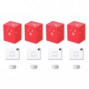 Papír mécsestartó mécsessel LightBag papír 12x14x10cm rózsaszín (4 db/szett)