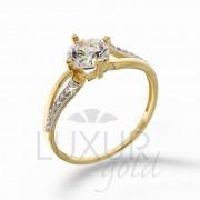 Dámský mohutný zásnubní zlatý prsten v kombinaci zlata 1211096-5-50-1