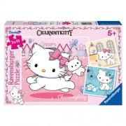 Puzzle Hello Kitty si cel mai bun prieten, 3x49 piese, RAVENSBURGER