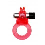 Anello Fallico Vibrante con Stimolatore Clitoride Rabbit Rosso