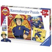 PUZZLE POMPIERUL SAM IN ACTIUNE, 3X49 PIESE - RAVENSBURGER (RVSPC09386)