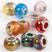 Creativ Company Glaslinks, dia. 13-15 mm, hålstl. 4,5-5 mm, 10 mix.